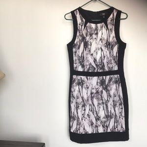 Mossimo grey, white & black color block dress sM/M